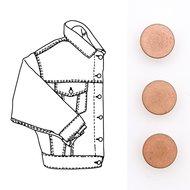 Druk- en stof- en jeansknopen en siernieten