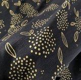 slubjersey zwart goud lillestoff