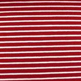 cherry red/white stripes €19,80 p/m GOTS_
