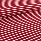 cherry red/white stripes €19,80 p/m GOTS_