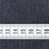 Stoffonkel - Organic Jacquard Stripe Pattern Zwart/grijs €23,80 p/m GOTS_