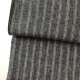 Laatste Meter! Linnen - Grey.black striped €15,90_