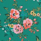 Cloud 9 - Wild Flower - Rosie green €23,90 p/m (cotton sateen)_