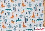 Lillestoff - Koala and crocodiles summersweat €21,80 p/m GOTS_
