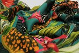 Atelier Jupe - Tropic turquoise viscose with large flower print €25 p/m_