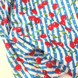 Cherries blue striped sport/zwem lycra €29,90 p/m _
