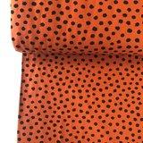 Verhees GOTS  - Dots cognac €11,90 p/m jersey (GOTS) _