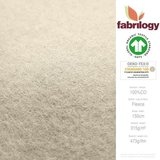 Fabrilogy - Creme Katoen Fleece  €20 p/m GOTS_