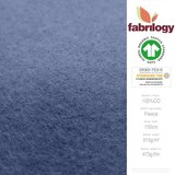 Fabrilogy - Indigo Katoen Fleece  €20 p/m GOTS_