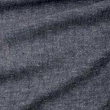 Ecological Textiles - Hemp/tencel dark blue melange poplin   €22,50_