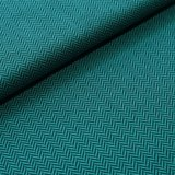 Stoffonkel - Organic JACQUARD visgraad smaragd €23,80 p/m GOTS_