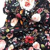 Verhees GOTS  - Flowers navy €12,90 p/m jersey (GOTS) _