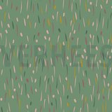 Verhees Green fun stripes SOFT SWEAT - €13,50 p/m GOTS_