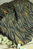 Eglantine & Zoé Zebra Khaki Crepe Viscose €22,50 p/m_