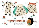 Lillestoff - Dotty Hedgehog SUMMERSWEAT €21,80 p/m GOTS_