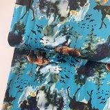 Ernst Textil - Bosdieren blauw - jersey €22,90 p/m _