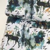 Ernst Textil - Bosdieren wit - jersey €22,90 p/m _