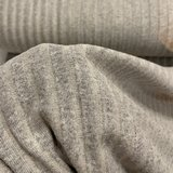 COUPON 115cm  Verhees - Recycled RIB cotton GREY €13,50 p/m  _