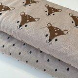 Stoffonkel - Organic JACQUARD dots missy brown €23,80 p/m GOTS_
