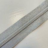 Deelbare zilver rits visgraad 50cm €8,75_