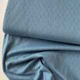 COUPON 75cm Hilco - Pointelle blue €14,50 p/m OEKOTEX  _