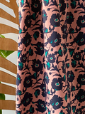 Atelier Jupe - Old pink flower COTTON-STRETCH €26,5 p/m_