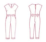 Atelier Jupe - Elle jumpsuit patroon €16,50 p/m_