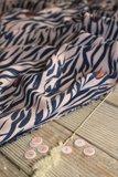COUPON 40cm Eglantine & Zoé Zebra Rose Perle Crepe Viscose €22,50 p/m_