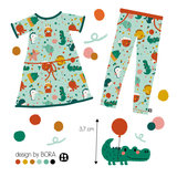 Lillestoff - Party Fish JERSEY €21,30 p/m GOTS_