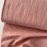 Verhees OEKOTEX - COTTON EMBROIDERED Old pink  €14,5 p/m katoen _