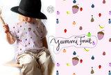 Lillestoff - Yummi fruit JERSEY €21,30 p/m GOTS_