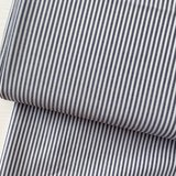 Ecological Textiles - Blue/white Fine stripes poplin €22,50 GOTS_