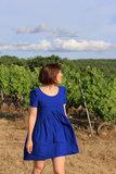 Eglantine & Zoé Royal Bleu Crepe Viscose €18 p/m_