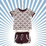 Lillestoff - Retrosummer Small Brown JERSEY €21,30 p/m GOTS_