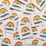 Ikatee -  Happy woven labels €6 per set_