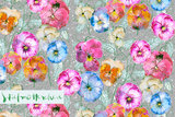 Lillestoff - Flowers  JERSEY €21,30 p/m GOTS_