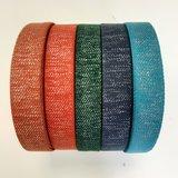 Tassenband NAVY BLUE - SILVER LUREX 30mm €4 p/m_