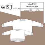 WISJ - Casper unisex sweater kids en volwassenen  €12_