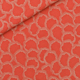 COUPON 70cm See you at six - Burnt Sienna Rood VISCOSE €15 p/m_