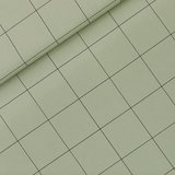 See you at six - Thin Grid Thee Groen KATOEN CANVAS €20 p/m_
