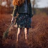 See you at six - Autumn Joy Forest Green KATOEN GARBARDINE TWILL  €16 p/m_