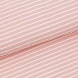Stoffonkel Peach pink stripes JERSEY €19,80 p/m GOTS_