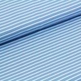 Laatste 120cm! Stonewash blue stripes GOTS_