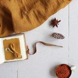 Atelier Brunette - Stardust Chestnut ochre (double gauze) €22,50 p/m_