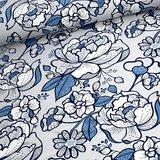 Tidoeblomma - Poiner blue (GOTS summersweat) €21,90 p/m_