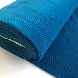 AlbStoffe - Organic cord Nicki Petrol €23,90 p/m sweat (GOTS)_