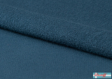 Lillestoff - solid rauch blauw (summersweat) €17,80 p/m GOTS_