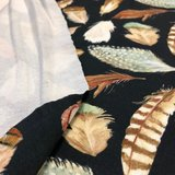Dark feathers - french terry oekotex €18 p/m_