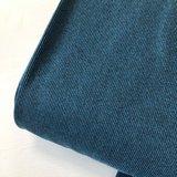 Rib boordstof melange blue  (110cm breed rondgebreid)_