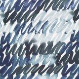 Cloud 9 - Scribbles in Blue Cotton Sateen €22 p/m (biokatoen)_
